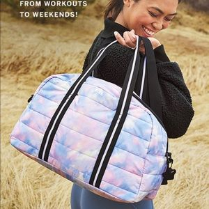 PINK Victoria's Secret Bags - VS Pink tie dye quilted duffle